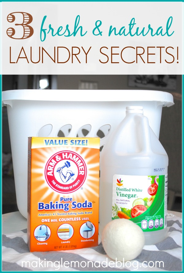 3 Tips for Natural + EcoFriendly Laundry! makinglemonadeblog.com