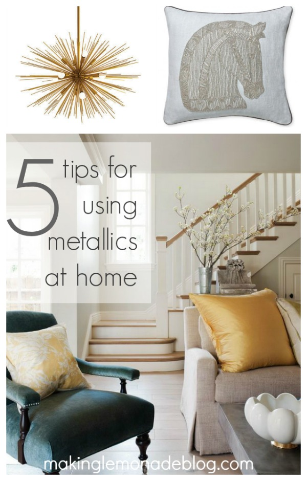 28 silver and gold decor mix home decor mixed metals zen living rooms on my mind monday Metallic home decor pinterest