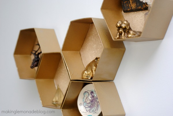 easy diy hexagon wall shelves you 39 ll never guess what they 39 re made