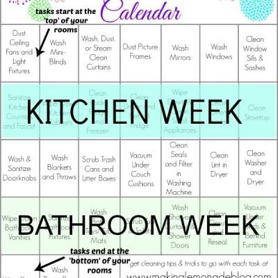 Free Printable Spring Cleaning Calendar