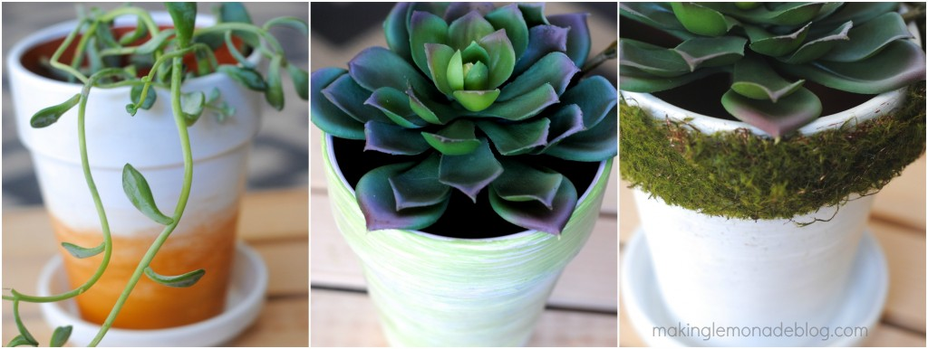How to Decorate Spring Inspired Flower Pots 3 Ways from www.makinglemonadeblog.com