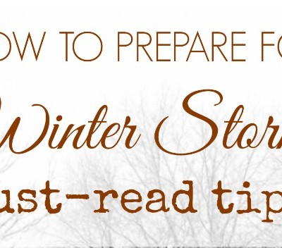 10 Tips for Winter Storm Prep (or, I Should've Known Better)