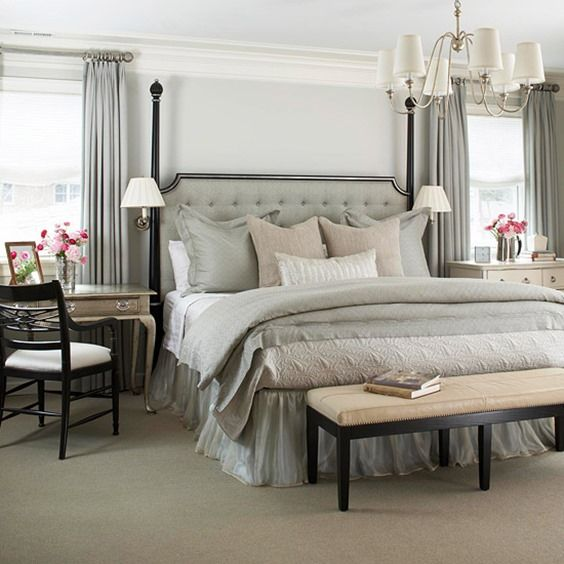 Grey Master Bedroom: Beautiful Bedrooms: Master Bedroom Inspiration