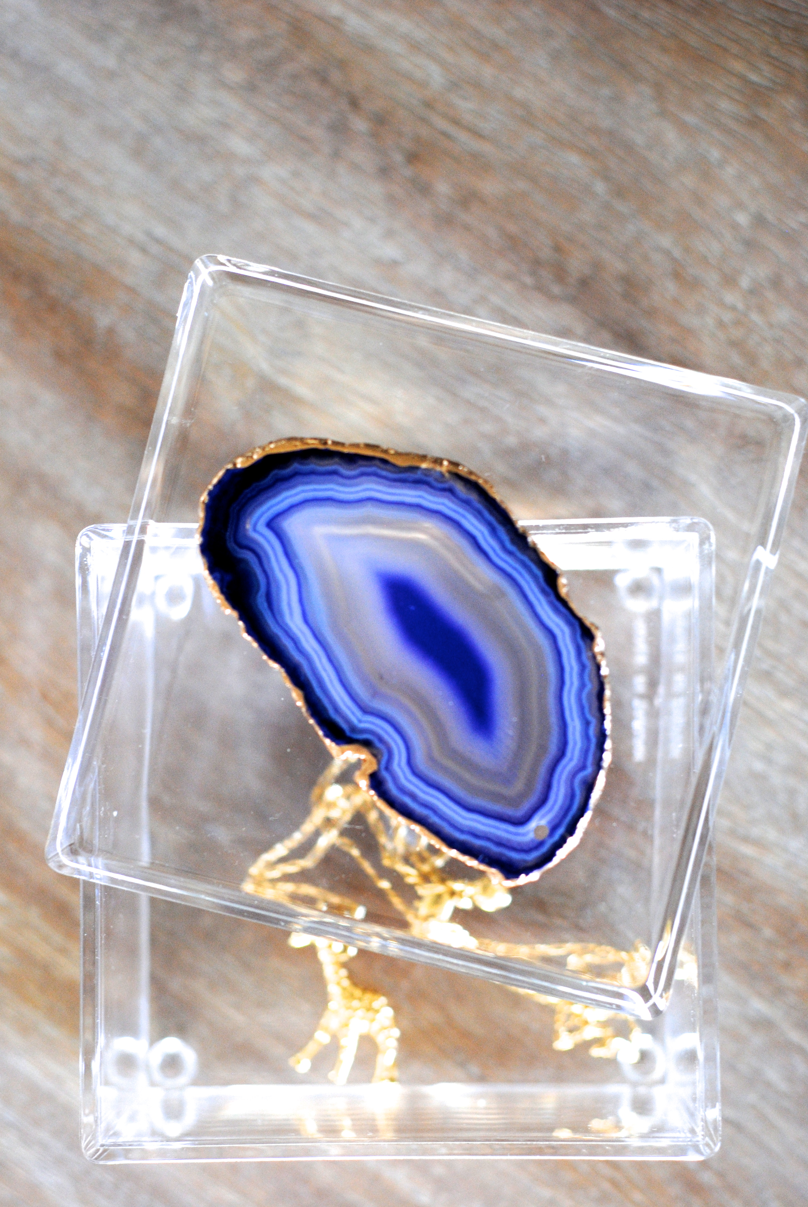 Gorgeous agate jewelry box