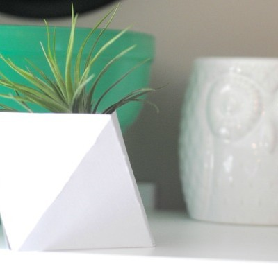 The Little Geometric Planter that Could {& Free Printable}