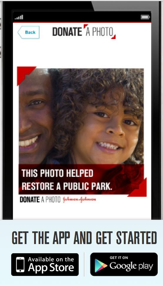 Johnson & Johnson Donate a Photo App
