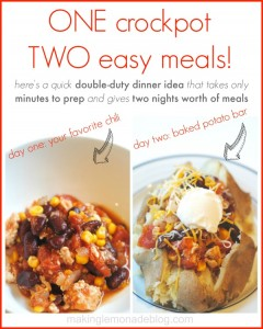 Double Duty Dinner Idea! Few minutes of prep and you get TWO delicious dinners #recipes #family via www.makinglemonadeblog.com