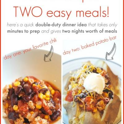 Simple & Delicious Double Duty Slowcooker Dinner Idea