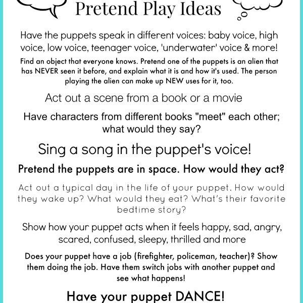 Free Printable Pretend Play Activities for Kids #kids #play via www.makinglemonadeblog.com