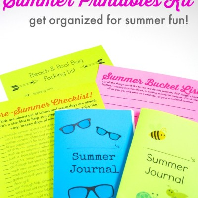 FREE Summer Organizing Printables Kit (& Giveaway!)