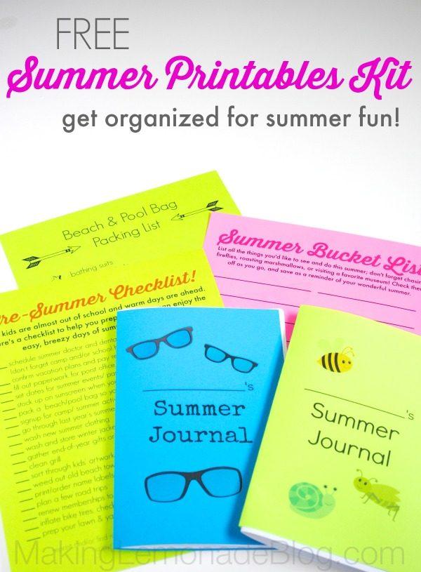 FREE Summer Organizing Printables Kit (& Giveaway!)