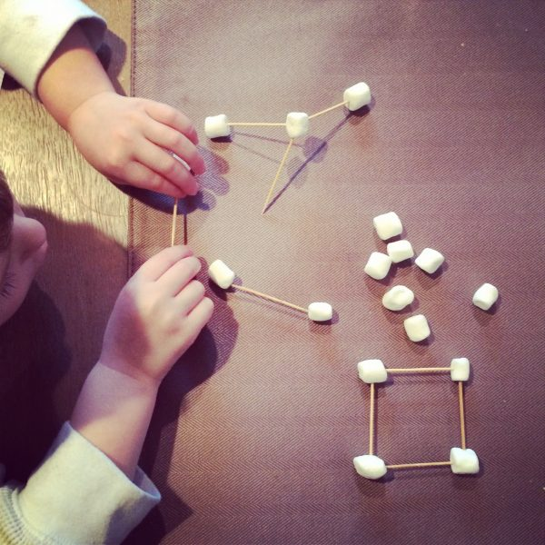 Fun Kids Activity Idea: Marshmallow Geometry! Kids love it, and they learn as they play. Bonus! #kids #activities www.makinglemonadeblog.com
