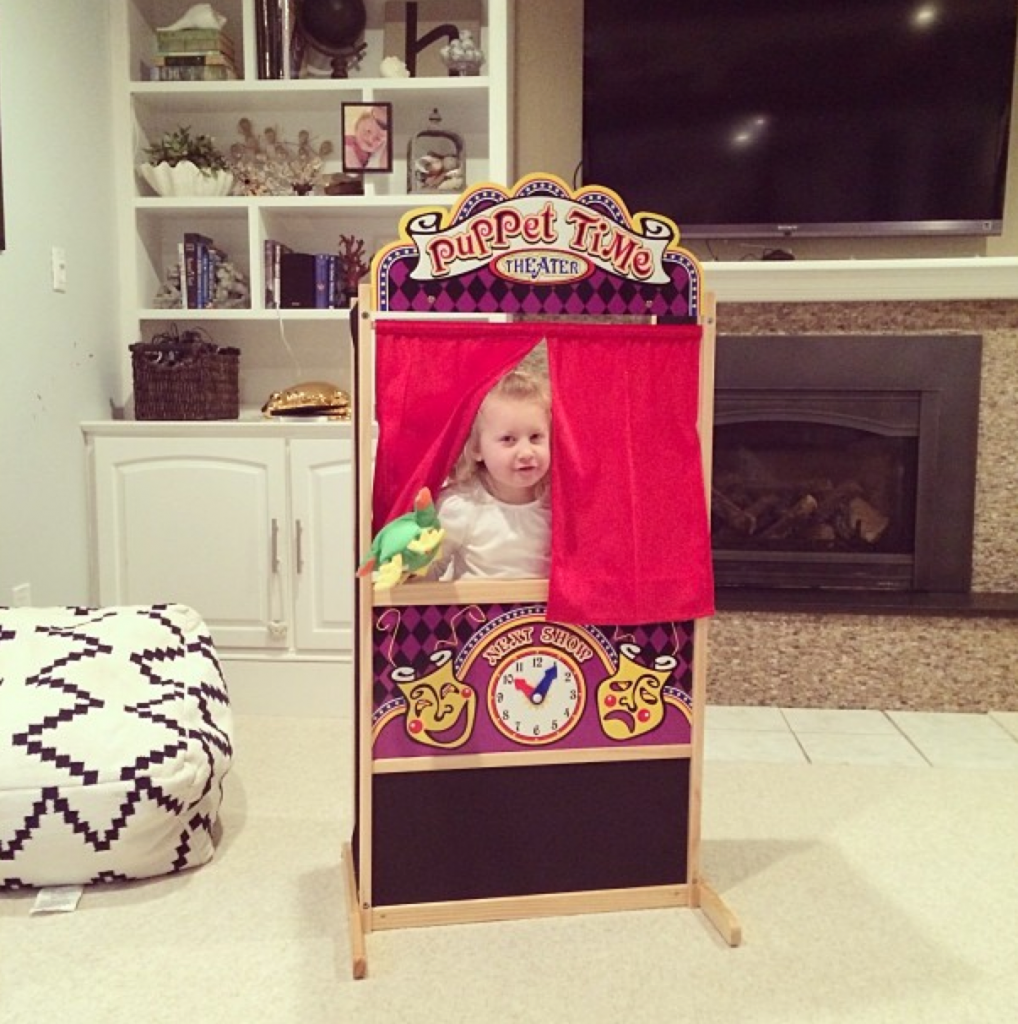 puppet theater ideas & activities for kids {free printable!}