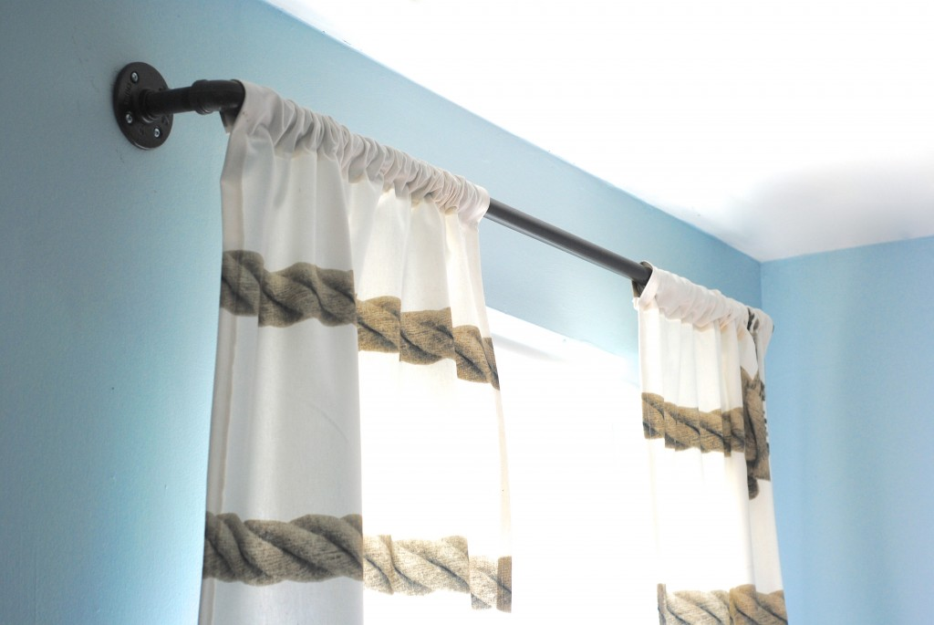 Diy Industrial Pipe Curtain Rods Boys Room Update Making Lemonade