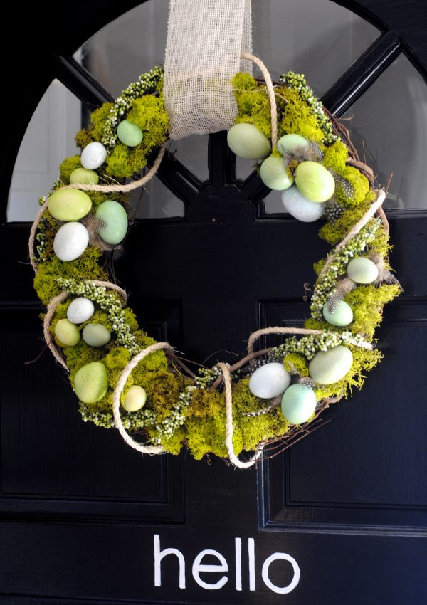 Spring Wreath Revamp {Reindeer Moss Wreath}