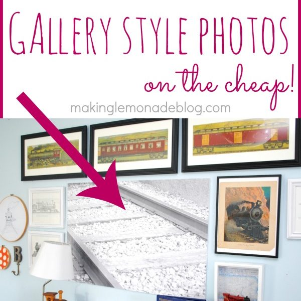 You can fake HUGE canvas style wall photos on the cheap-- this print cost just $3! #gallerywall #photography Get the tutorial at www.makinglemonadeblog.com