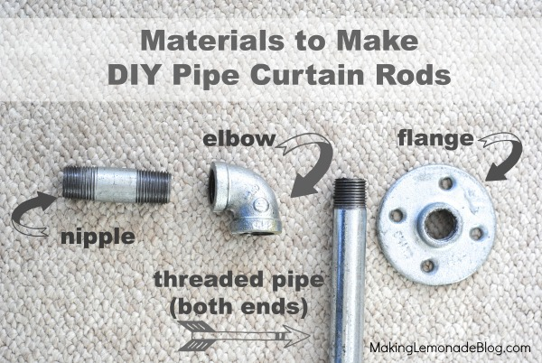 Diy Industrial Pipe Curtain Rods Boys Room Update