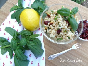 Delicious CousCous Salad with Cranberries and Lemon #summer #salad www.makinglemonadeblog.com