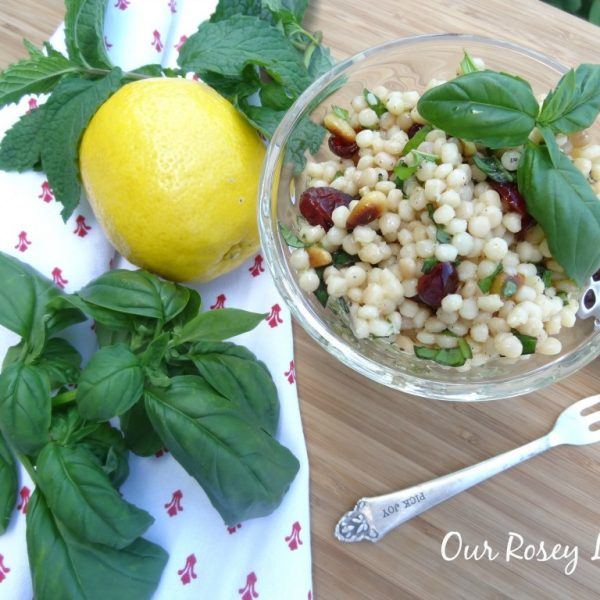 Delicious CousCous Salad with Cranberries and Lemon #summer #salad www.makinglemonadeblog.com