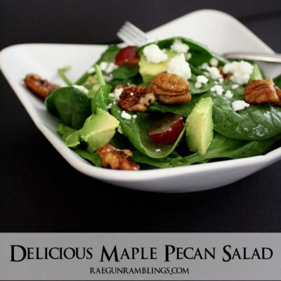 Maple Pecan Salad Recipe {Summer Salad Series}