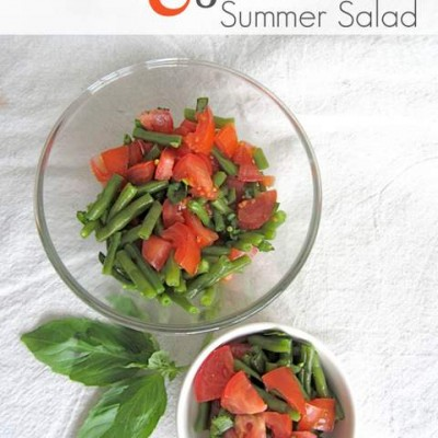 Tomato & Green Bean Salad {Summer Salad Series}