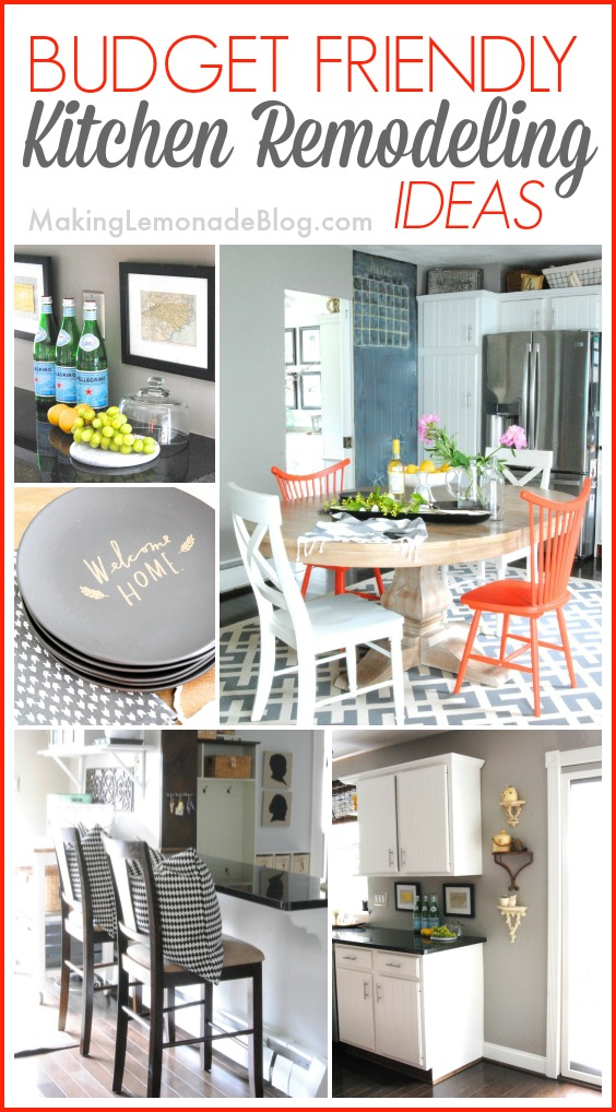 Budget friendly modern white kitchen renovation home tour for Remodeling ideas