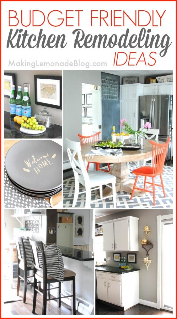 Budget friendly modern white kitchen renovation home tour for Kitchen renovation cheap ideas