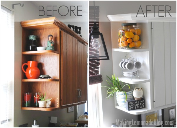 Budget friendly modern white kitchen renovation home tour for Kitchen renovation ideas on a budget