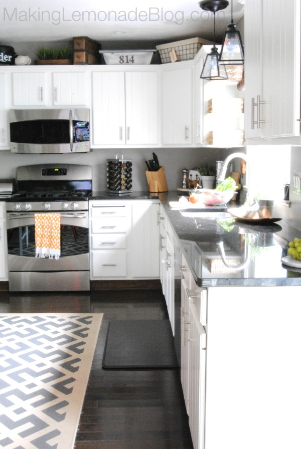 Budget-Friendly Modern White Kitchen Renovation {Home Tour} | Making ...