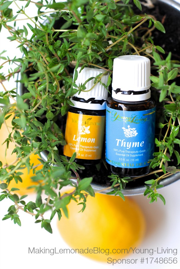 Lemon and Thyme essential oils