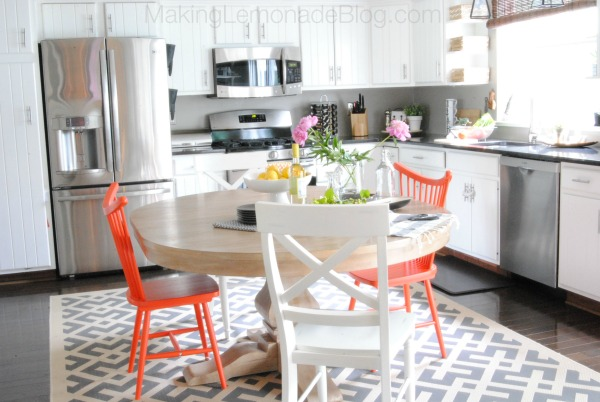 AMAZING budget-friendly kitchen renovation transformation! {Modern White Kitchen Remodel} #kitchens makinglemonadeblog.com