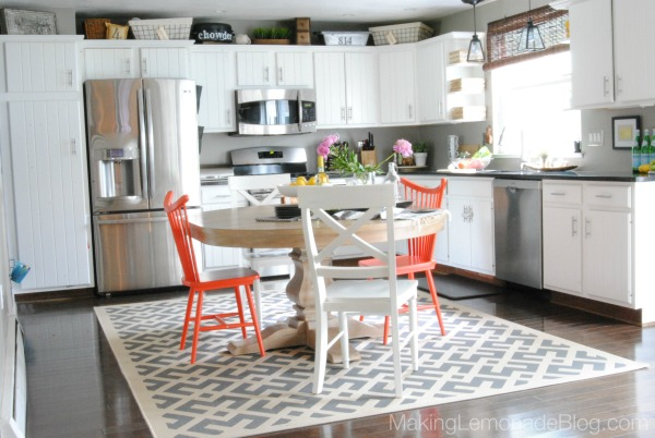 Budget Friendly Modern White Kitchen Renovation Home Tour Making Lemonade