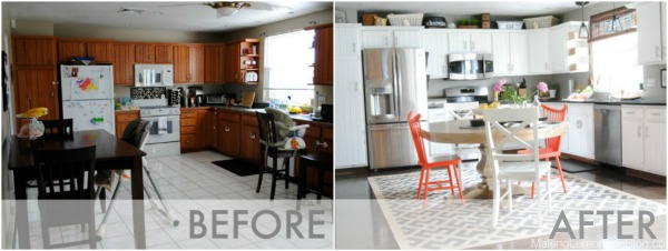 Amazing Budget Friendly Kitchen Renovation Transformation Modern White Remodel Kitchens