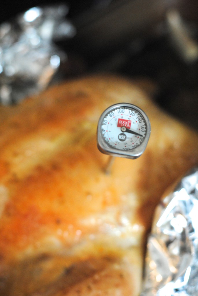 Keep an eye on the chicken temperature