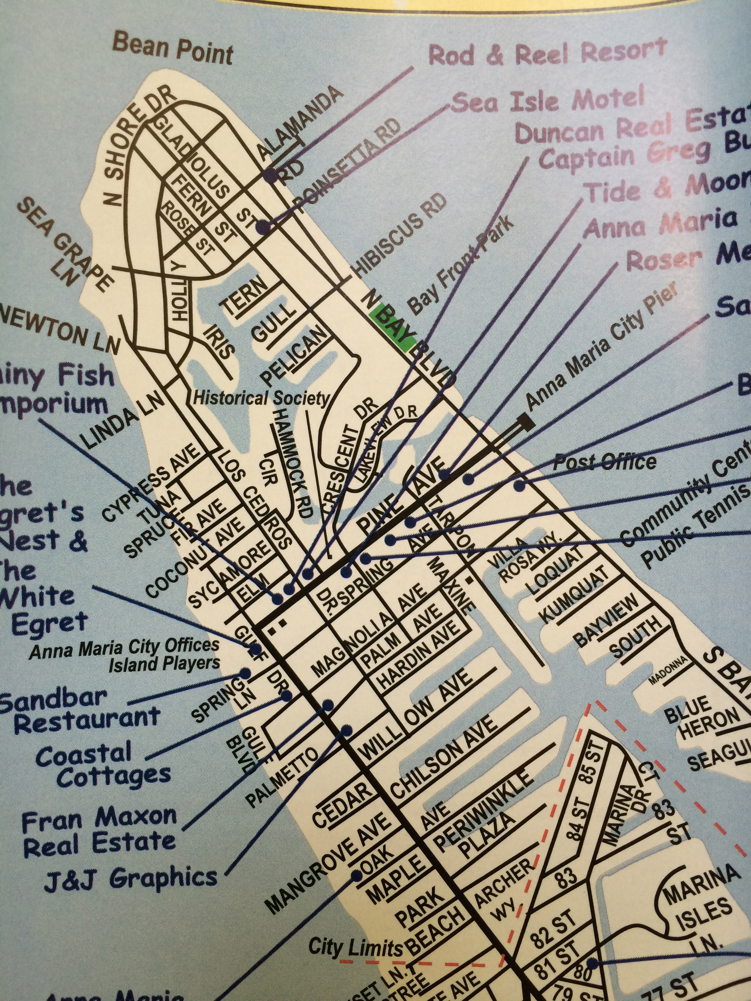 Things To Do Anna Maria Island Florida Map