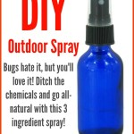 Bugs HATE these essential oils, which means you'll love them! Make your own DIY all-natural outdoor and camping spray with this EASY recipe!