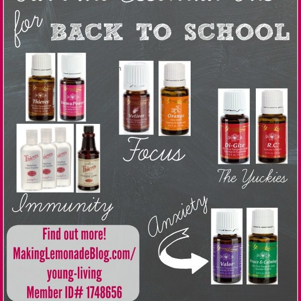 Best Essential Oils for Back to School: Support Immunity & Focus plus Ease Anxiety and Symptoms of Illness with these amazing Young Living oils! #essentialoils #youngliving