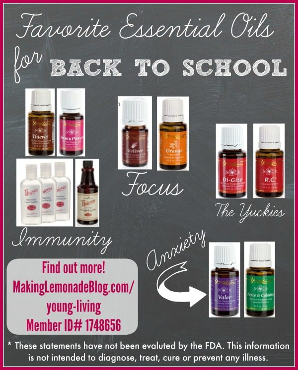 Favorite Essential Oils for Back to School