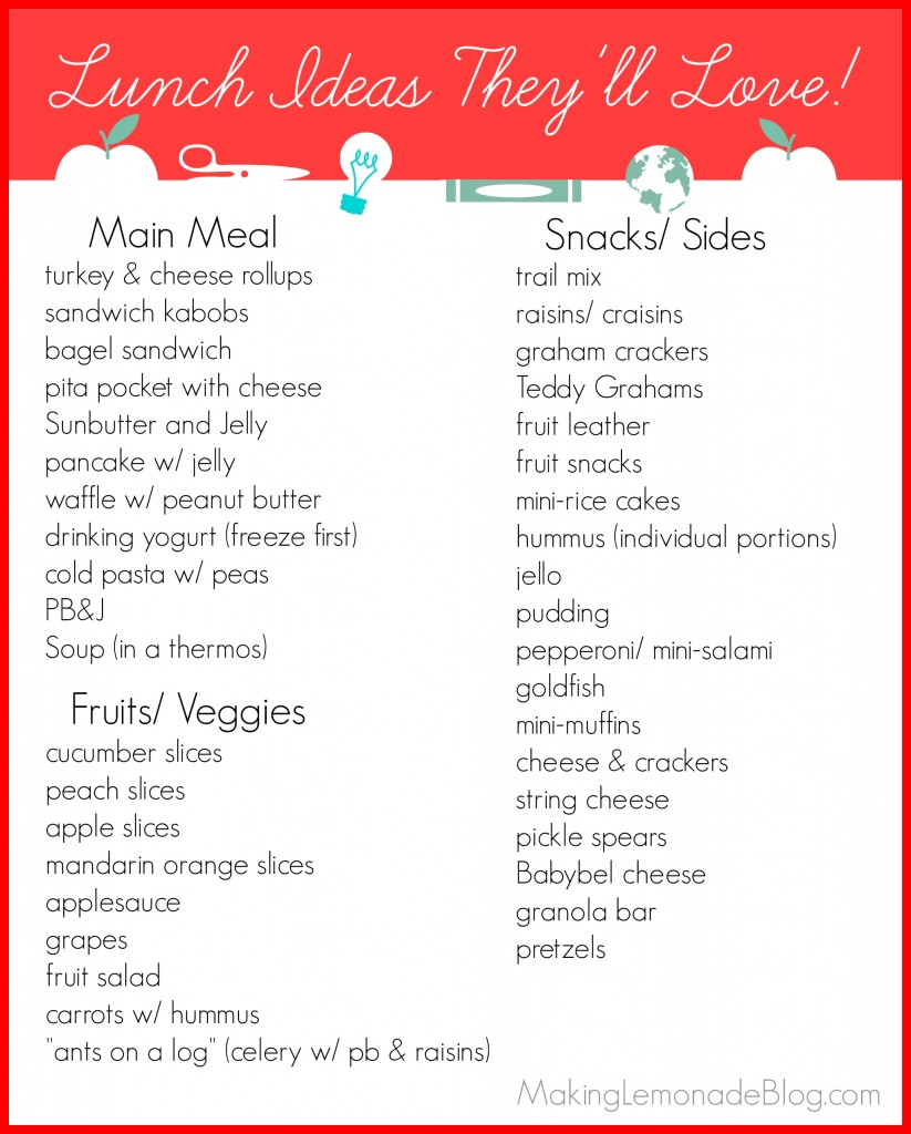 Lunch Ideas for Kids (that they'll LOVE!) #kids #backtoschool