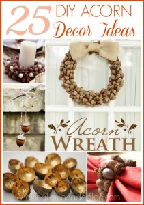 25 DIY Acorn Ideas for Easy & Inexpensive Fall Decor! #fall #acorns