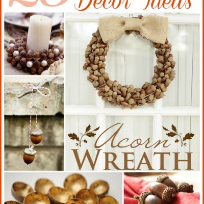 Acorn Inspired Fall Decor (DIY Fall Decor Ideas)