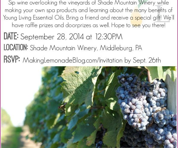 Young Living Essential Oils Winery Event