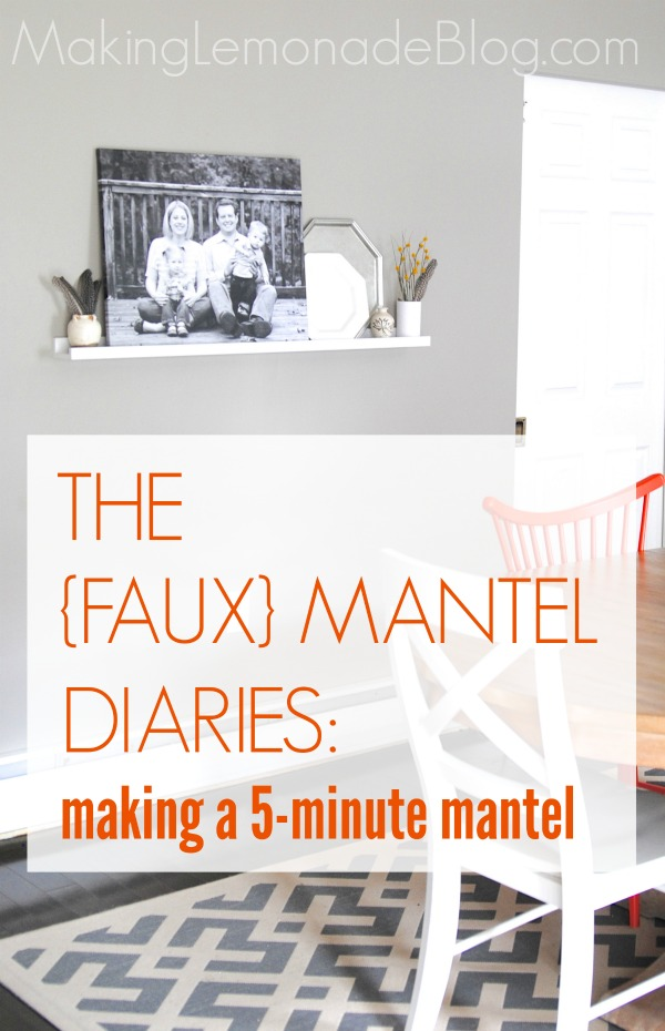 Faux Mantel Display Shelf-- Quick way to create your own 'mantel' for seasonal decor and photo display!