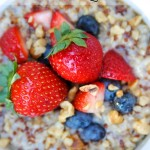 Breakfast Oatmeal with Quinoa-- delicious, gluten-free, and healthy too!