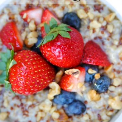 Oatmeal with Quinoa Breakfast Recipe {Gluten-Free}