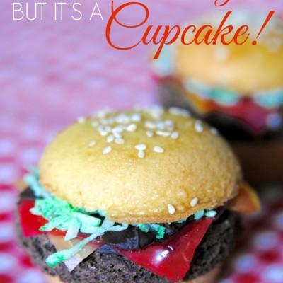 """""""Hamburger"""" Cupcakes {Fun Food Hack for Tailgating or Bake Sales}"""