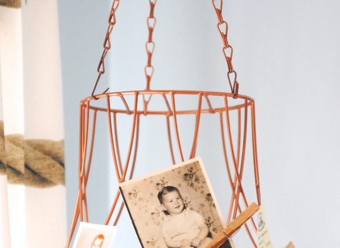 clever use of a thrift store basket!