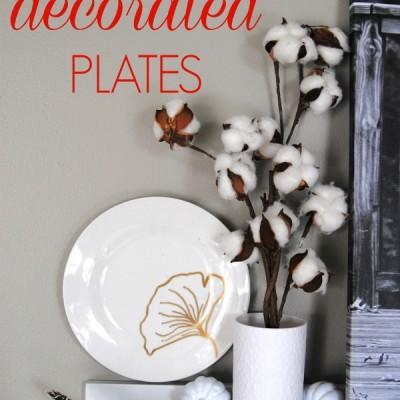 DIY Plate Decorations, 3 Ways {Fall Decor on a Dime!}