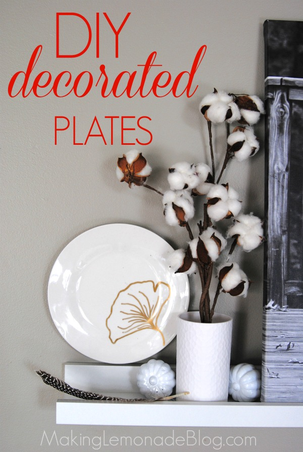 Diy plate decorations 3 ways fall decor on a dime for Decor on a dime
