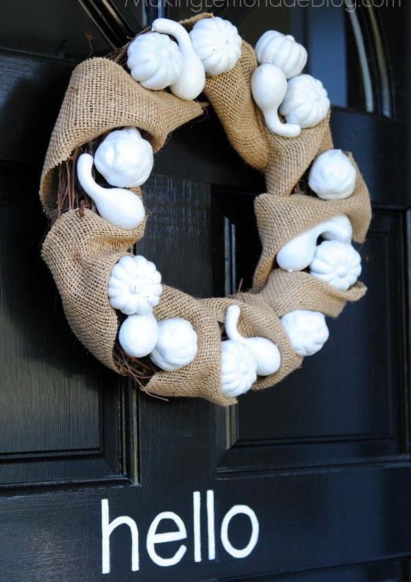 Burlap & Pumpkin Fall Wreath {Dollar Store Wreath Idea!}